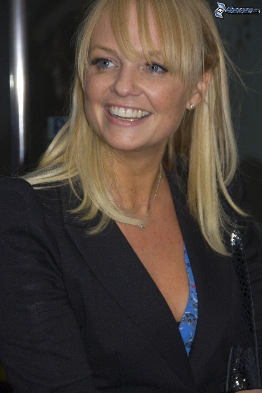 Emma Bunton, smile, look, jacket
