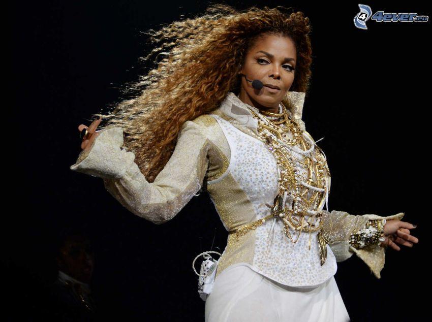 Janet Jackson, singing, microphone