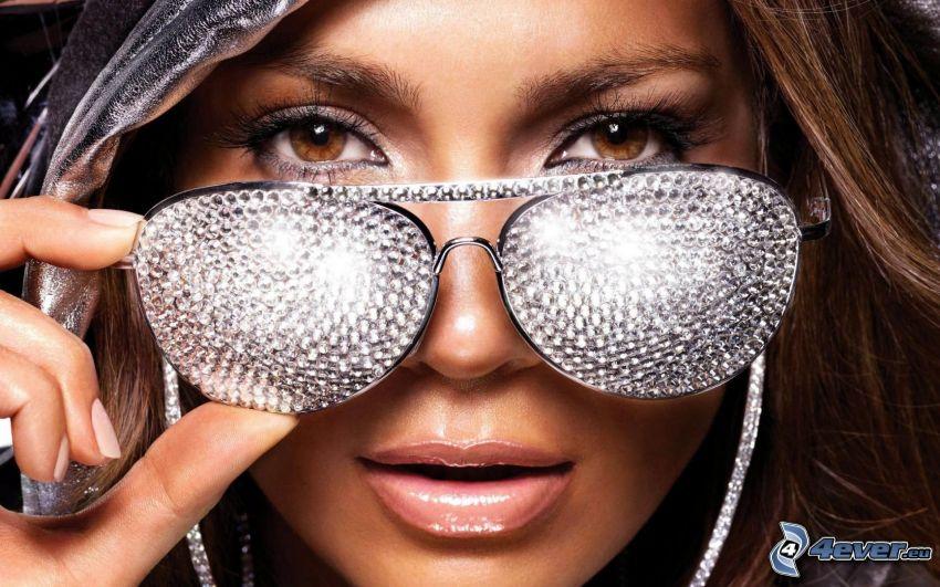 Jennifer Lopez, glasses