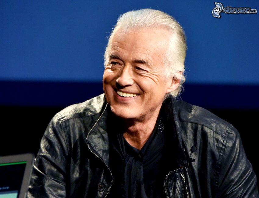 Jimmy Page, guitarist, laughter