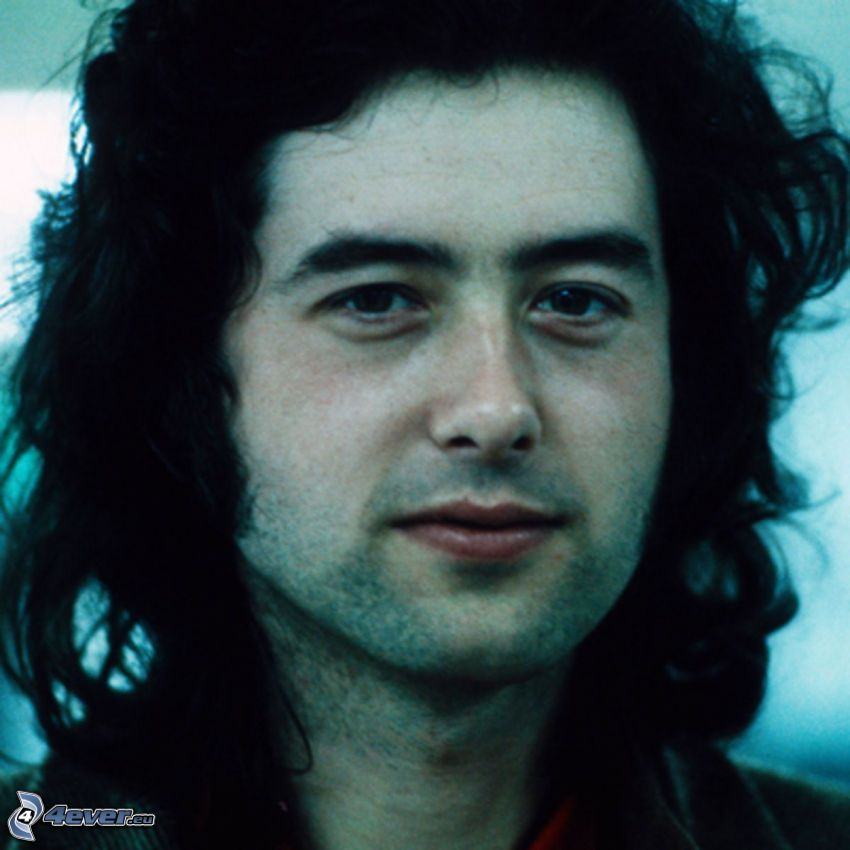 Jimmy Page, guitarist, young