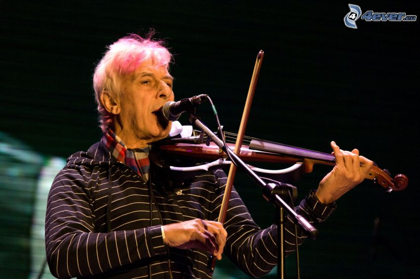 John Cale, play the violin, microphone