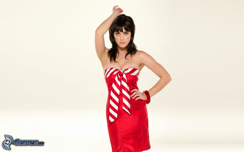 Katy Perry, red dress