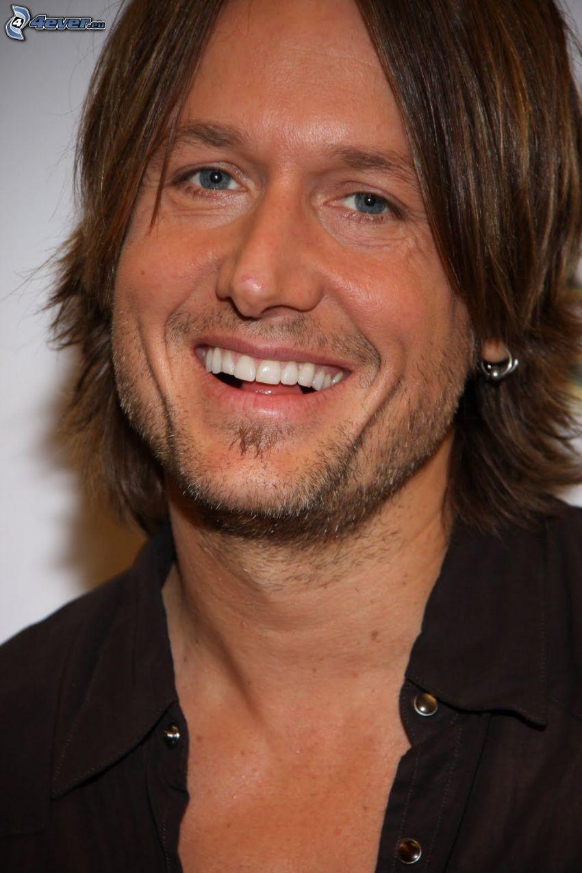 Keith Urban, smile
