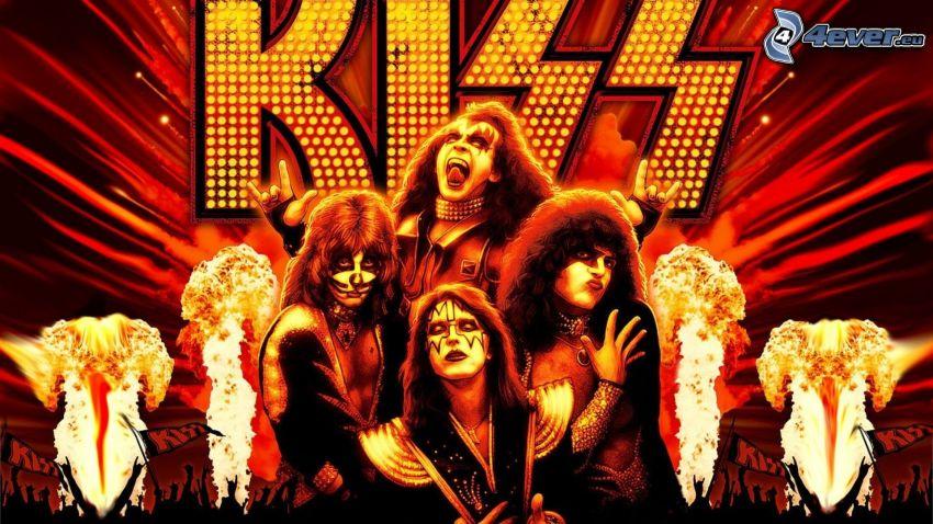 Kiss, fire