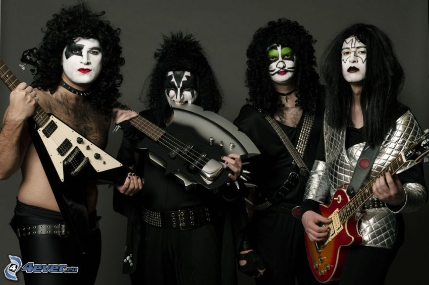 Kiss, guitars