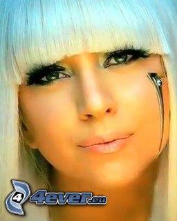 Lady Gaga, singer, face, eyelash