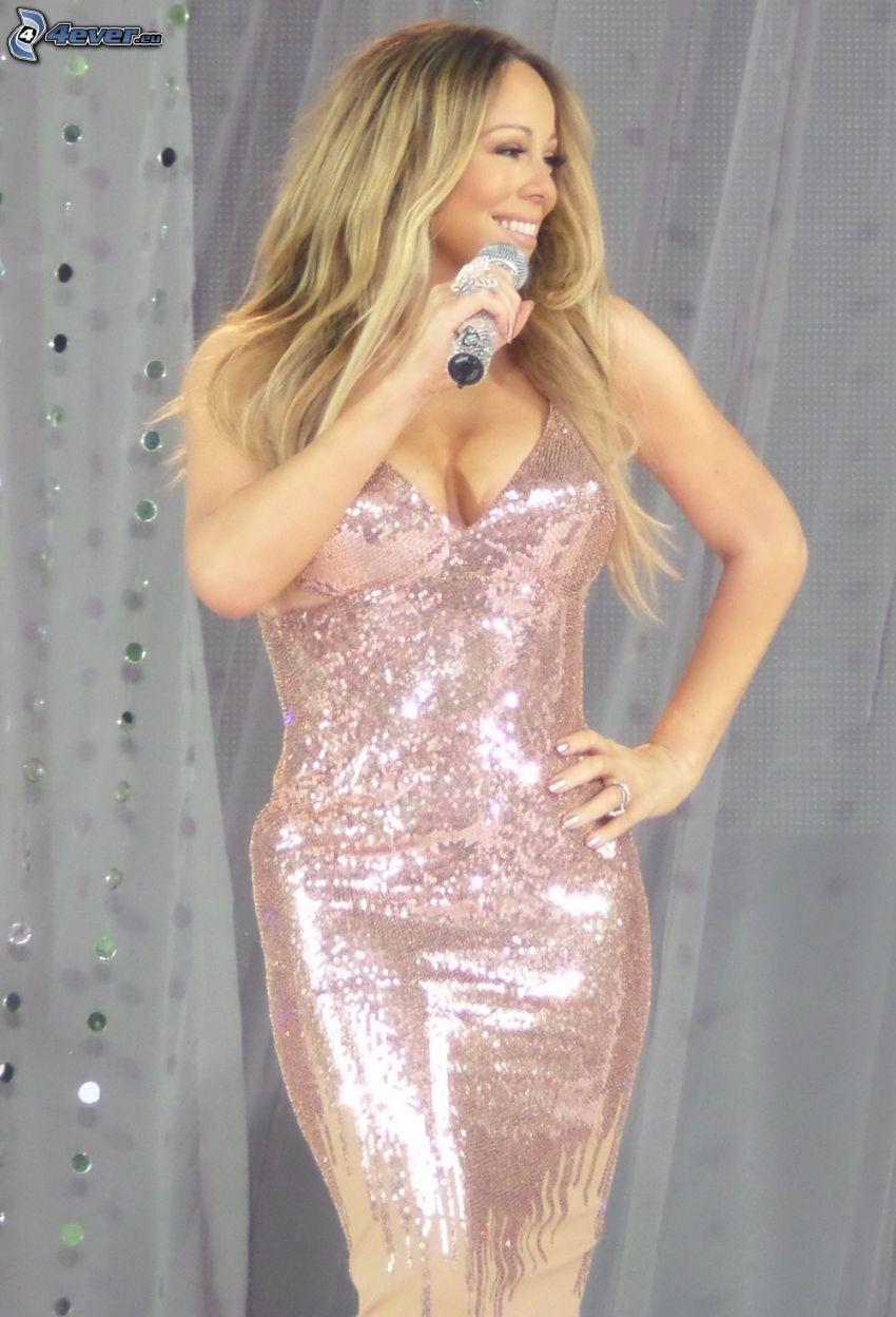 Mariah Carrey, singing, glitter