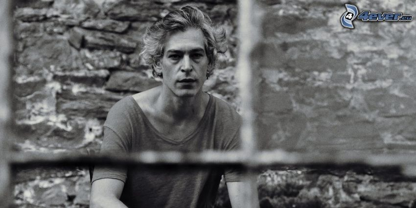 Matisyahu, black and white photo