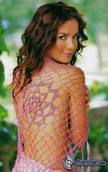 Natalia Oreiro, fishnet dress, actress