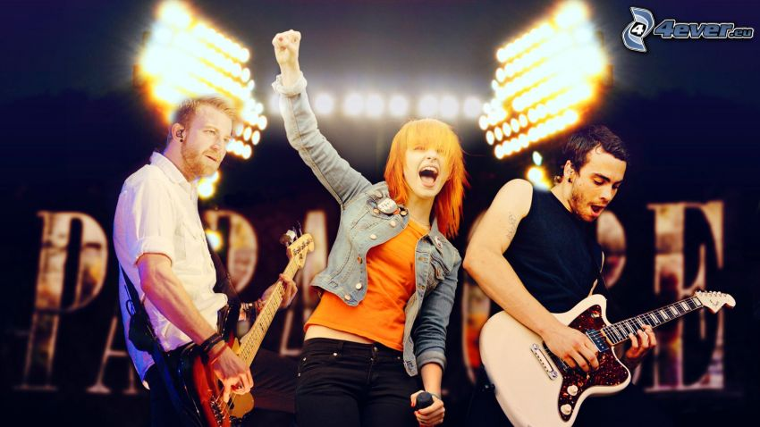 Paramore, guitarist, playing guitar, concert