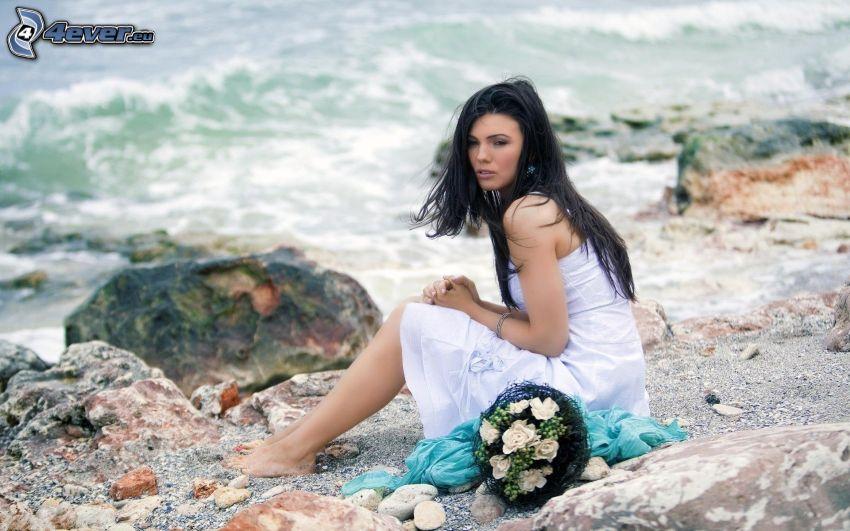 Paula Seling, woman on the beach