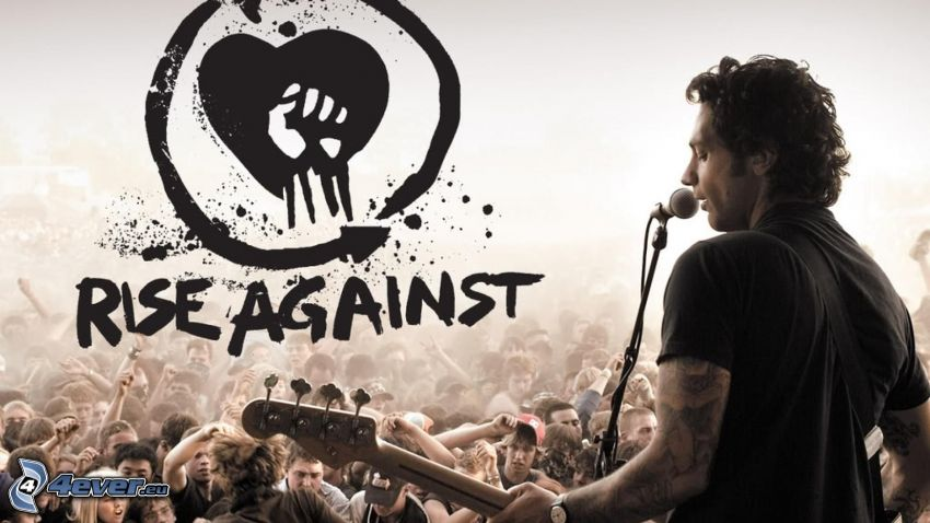 Rise Against, logo, concert