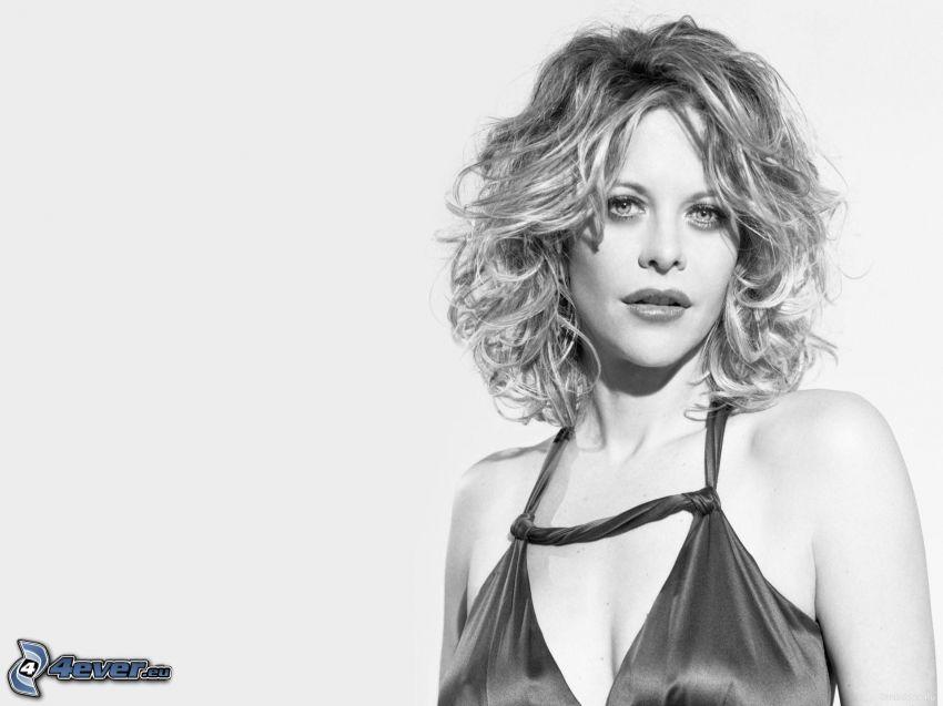 Tina Karol, black and white photo