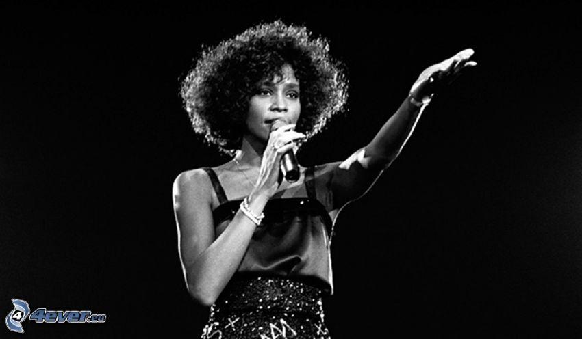 whitney black white. Simple Black Whitney Houston Black And White Photo Inside Black White