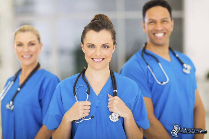 nurses, stethoscope, hospital