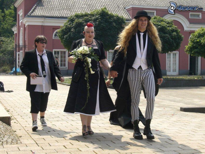 people, punker, costume