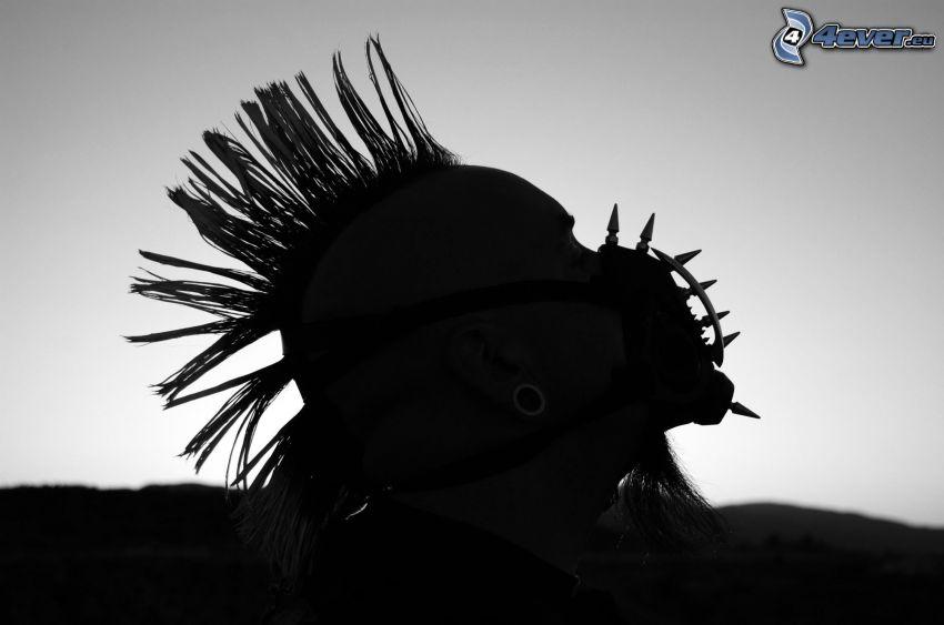 punker, silhouette