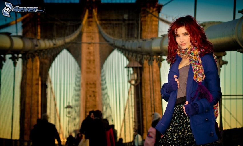 redhead, Brooklyn Bridge
