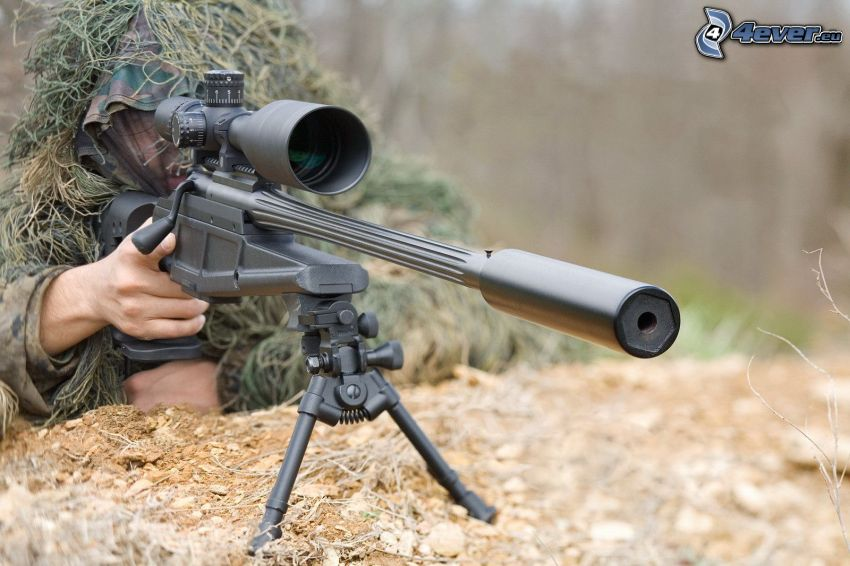 sniper, soldier with a gun
