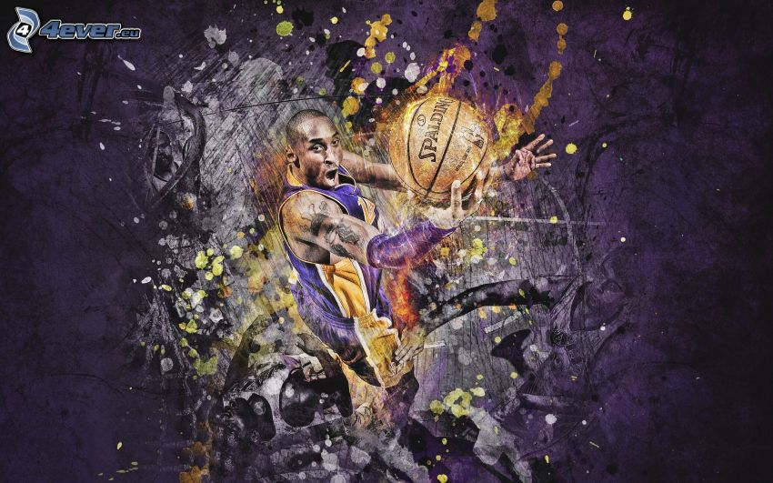 basketball player, ball, abstract