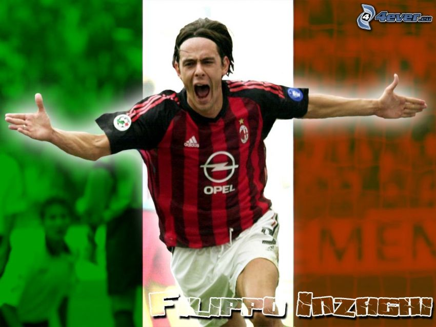 Filippo Inzaghi, footballer, AC Milan
