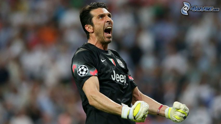 Gianluigi Buffon, footballer, joy