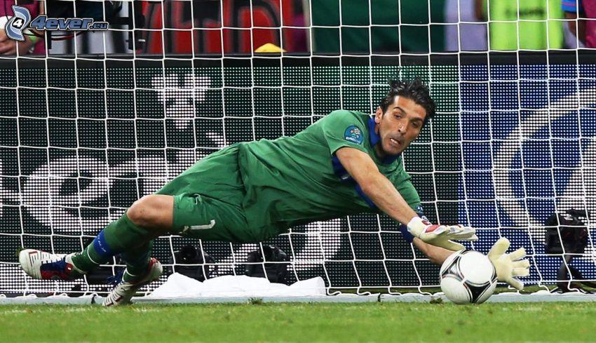 Gianluigi Buffon, goalie, ball