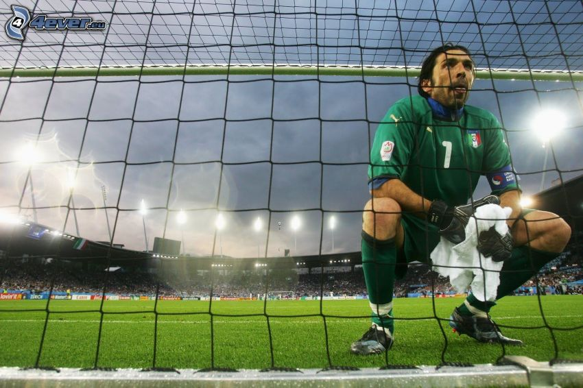 Gianluigi Buffon, goalie, gate
