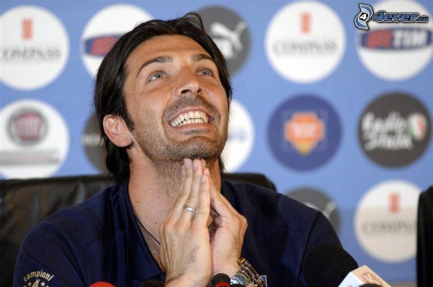 Gianluigi Buffon, joy, smile