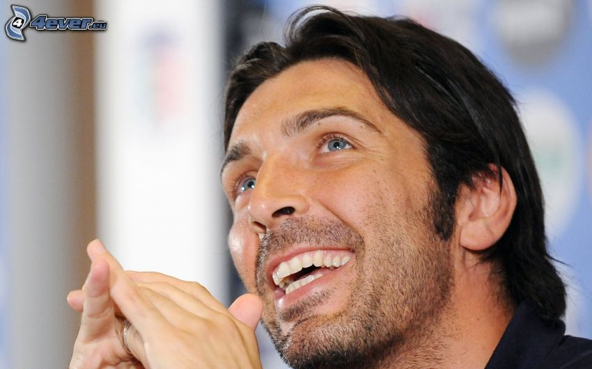 Gianluigi Buffon, smile, joy