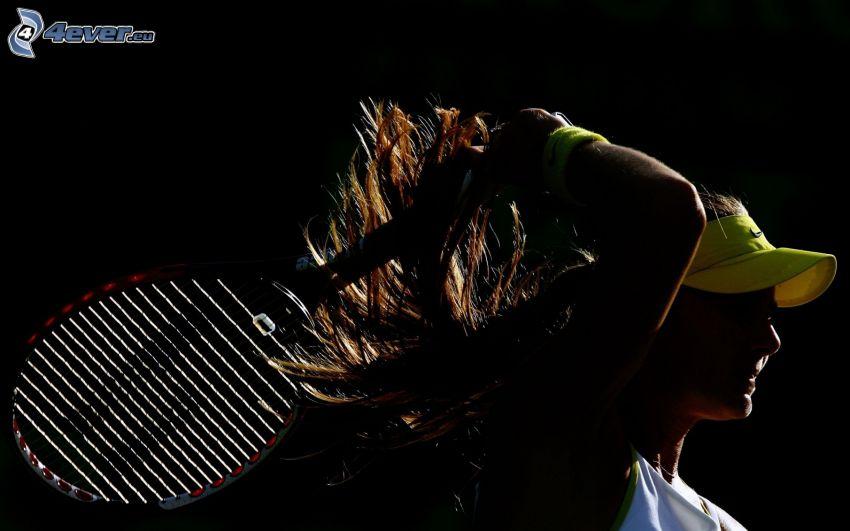 Maria Sharapova, tennis racket