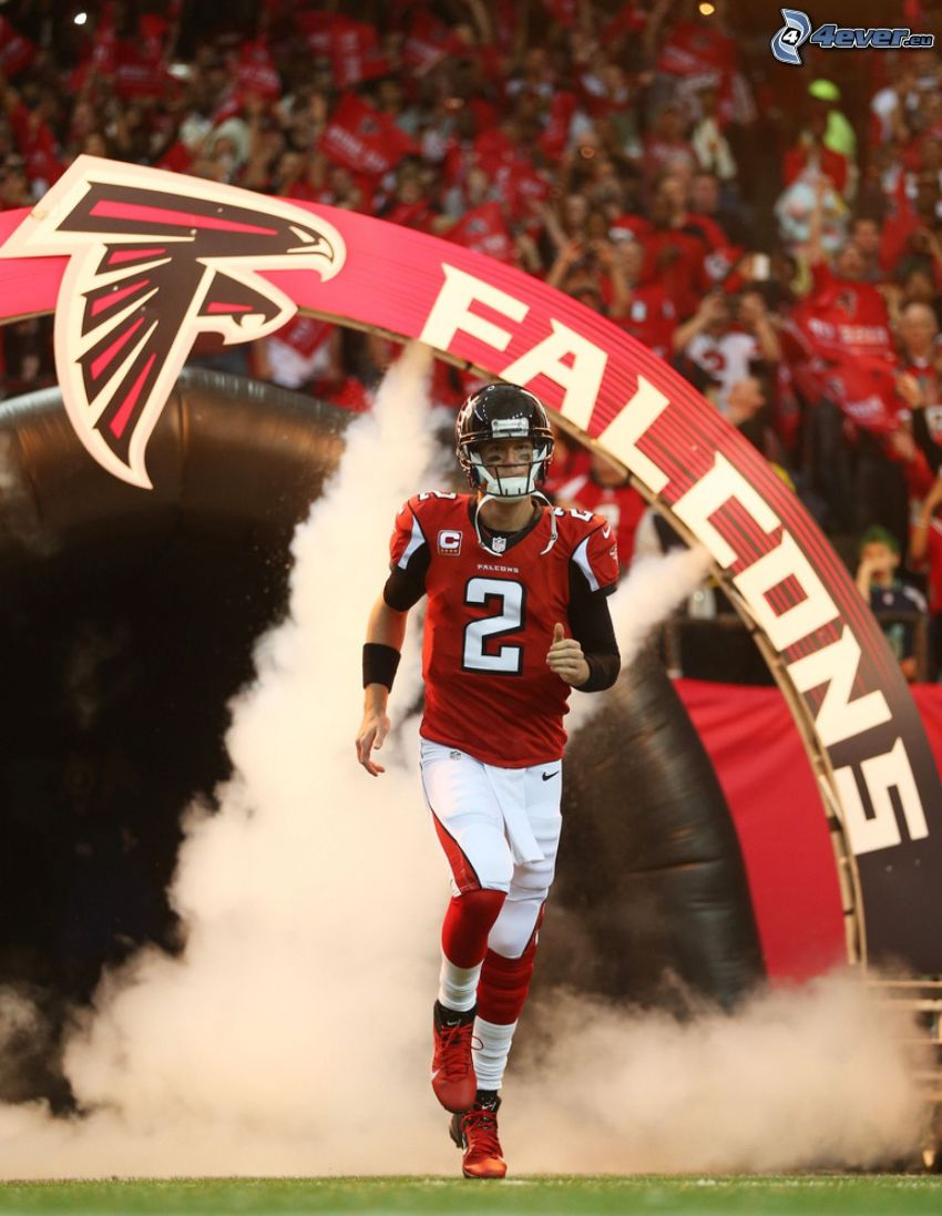 Matt Ryan, american football, running, smoke