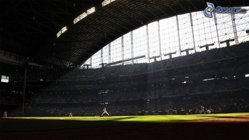 baseball stadium, tribune