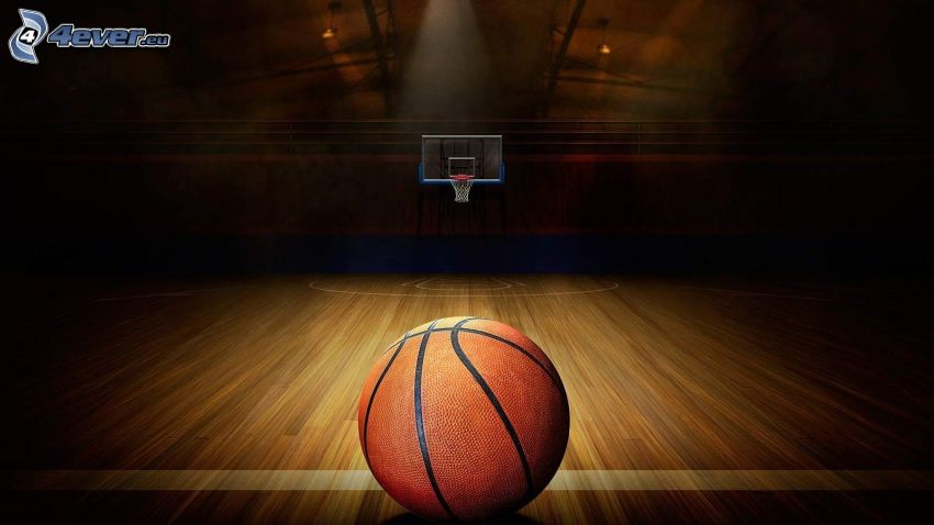 basketball ball, basketball basket, gym