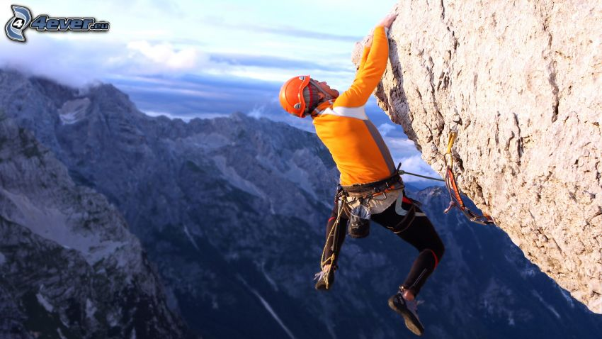 climber, rock, rocky mountains