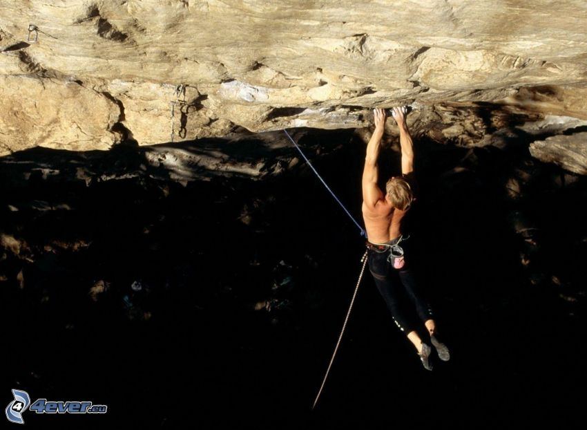 climber, rock