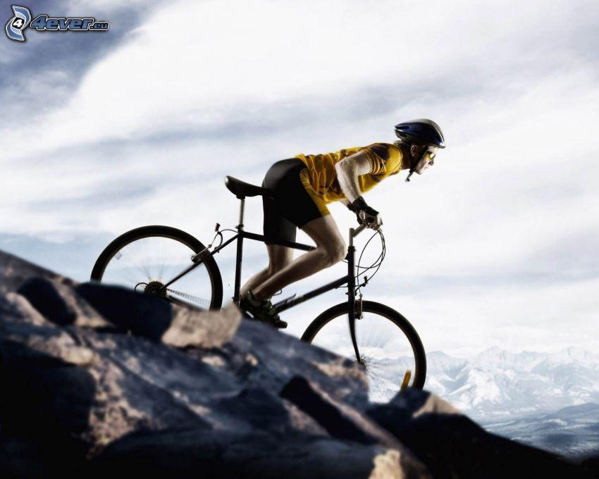 cyclist, mountainbiking