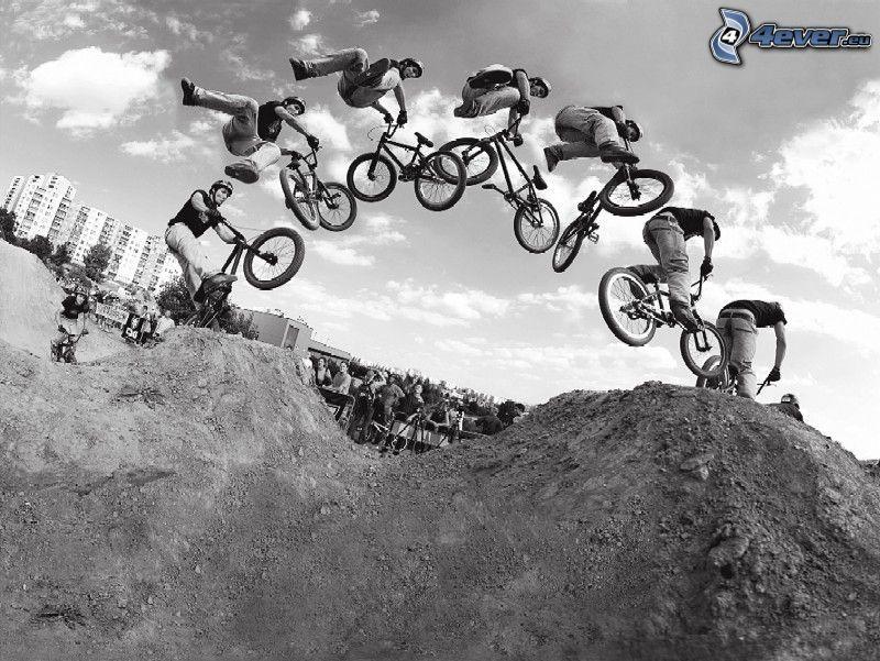 jump on bike, BMX