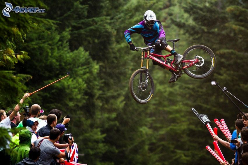 mountainbiking, jump