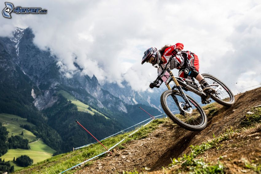 mountainbiking, mountains