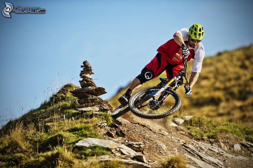 mountainbiking, rocks