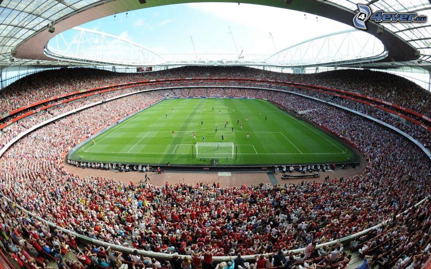 football stadium, spectators, match