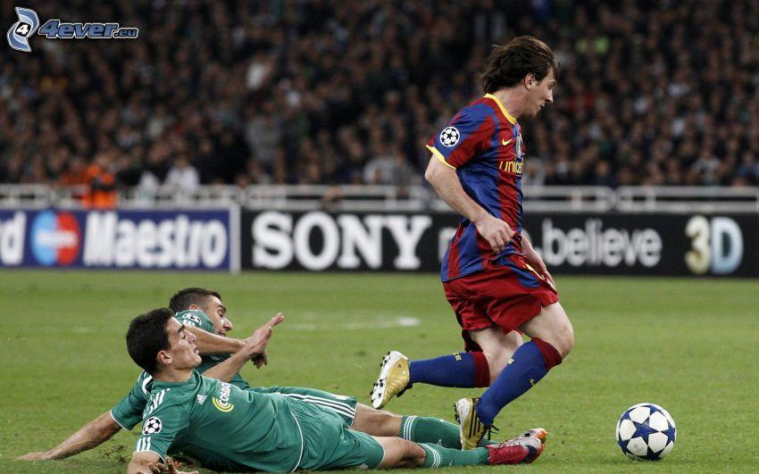 footballers, soccer ball