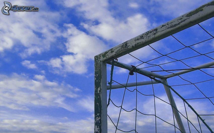 goal, clouds