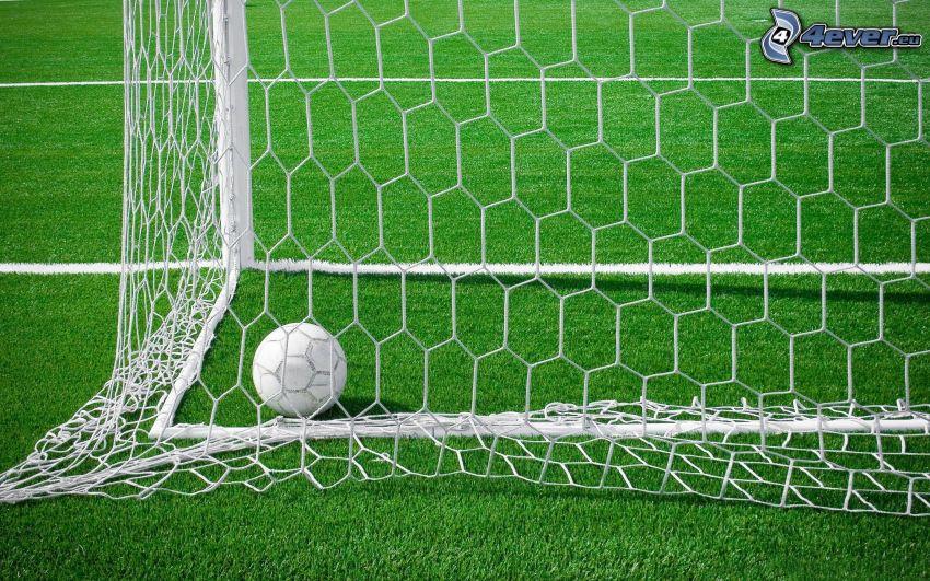 goal, soccer ball