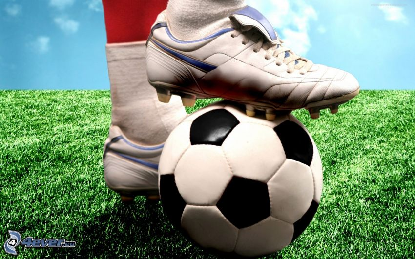 soccer ball, football boots