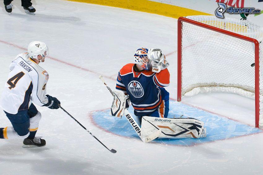 Franson, goalie, Edmonton Oilers