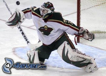 goalie, hockey, Minnesota Wild