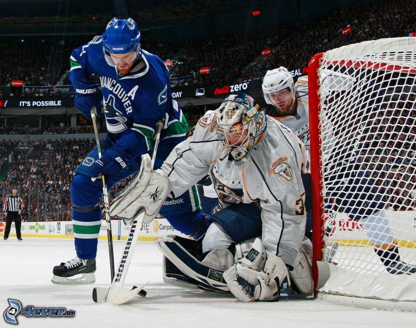 hockey, goalie, Nashville Predators, Vancouver Canucks